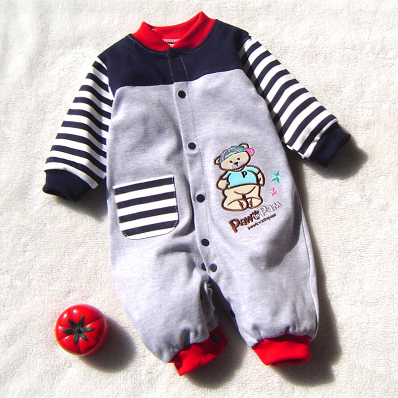 New Arrival Newborn Baby Boy Clothes Long Sleeve Baby Boys Girl Romper Cotton Infant Baby Rompers Jumpsuits Baby Clothing Set(China (Mainland))