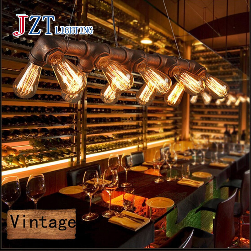 Z American country Retro INDUSTRIAL STEAMPUNK LAMP IRON PIPE CEILING FIXTURE PENDANT LIGHT VINTAGE Style Metal Art Lamp(China (Mainland))