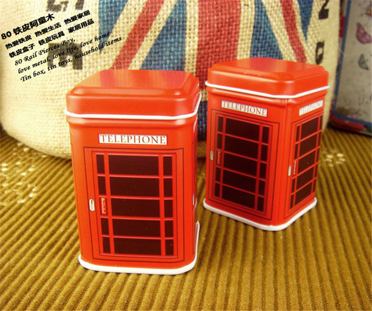Free Shipping 2015 New Fashion Korean Amall Metal Tin Candy Jewelry Box Storage Toothpick Jewelry box 4pcs/lot 4.5*4.5*6.9cm(China (Mainland))