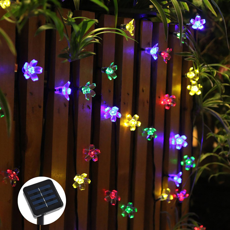 50 LEDs Flower Solar LED string lights Christmas Party Festival Decoration LED light,Garden ...