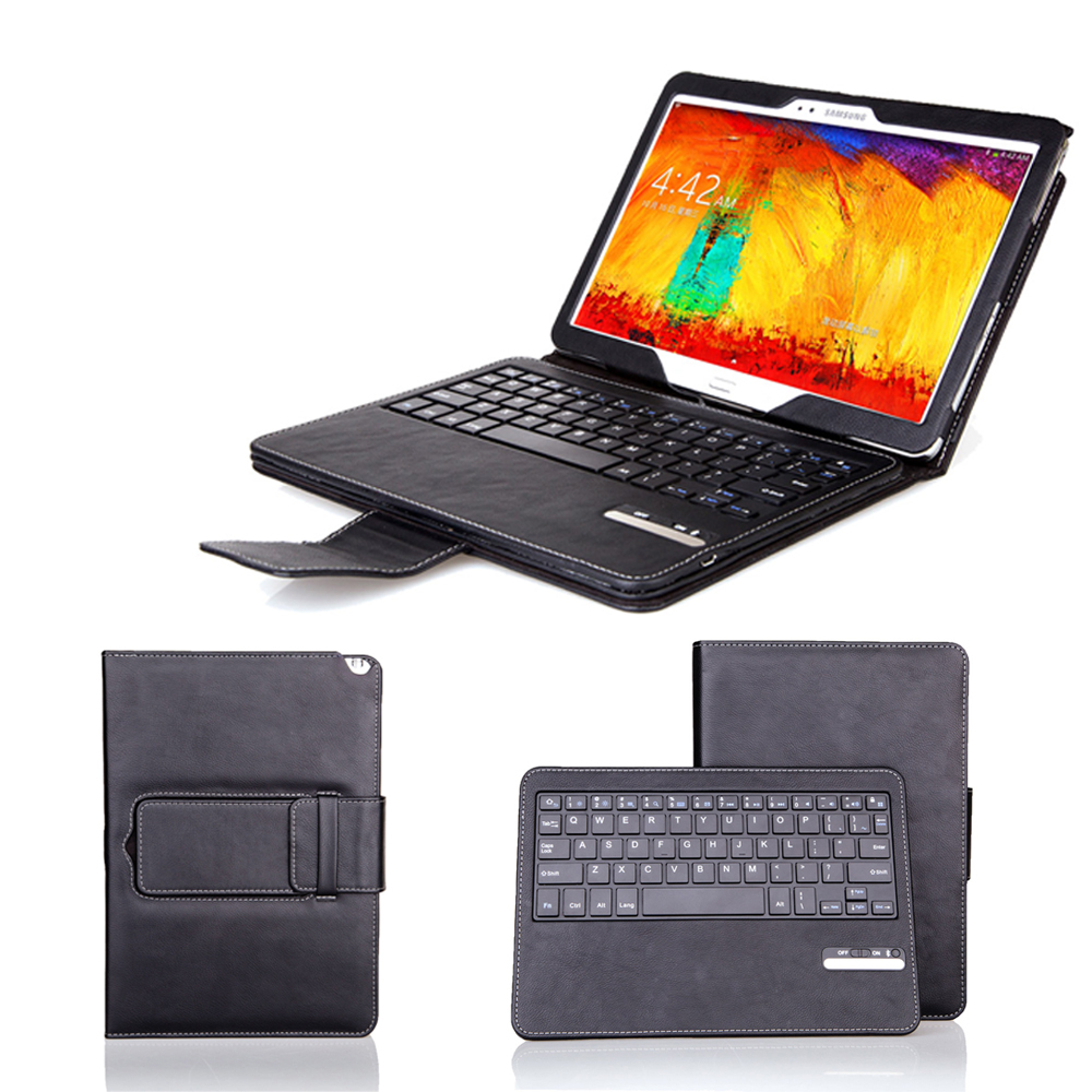 Black Removable Wireless Bluetooth Keyboard PU Leather Case Stand Cover For Samsung Galaxy Note 10.1 2014 Edition P600 P601<br><br>Aliexpress
