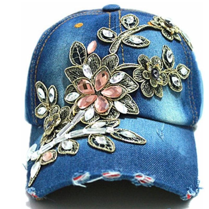 wholesale 2014 fall fashion Denim Baseball cap Sports Hat cap canvas Snapback caps hat for women good quality(China (Mainland))