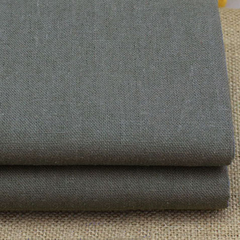 meter grey zakka table cloth linen cotton fabric for clothing trousers sofa cover dark gray linen fabric tecido(China (Mainland))