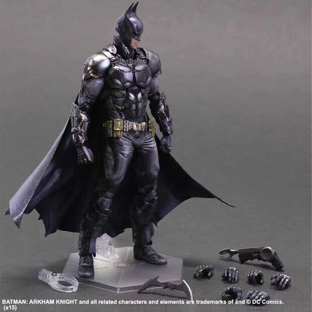 Bat Man 27cm 1pcs Motion Determine DC Comedian Batman Arkham Play Arts Kai Anime Assortment Mannequin For Child Presents 1159