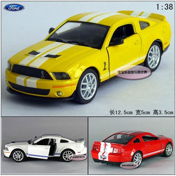 1:38 mini Ford Shelby GT500 sports car alloy model toy gift pull back random 1pc(China (Mainland))
