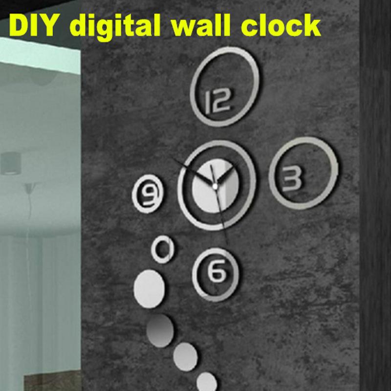 New DIY wall clock modern design The Wall Watch Sticker Clocks for living room home decor(China (Mainland))