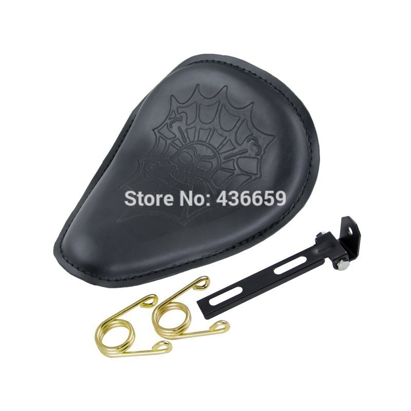 Motorcycle Leather Spring Solo Motorcycle Seat For Harley Davidson Fat Boy Streel Glide New<br><br>Aliexpress