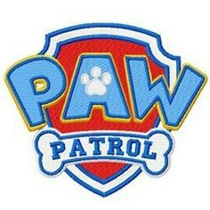 Free shipping paw patrol movie figures and logo applique  iron on embroidery patch (China (Mainland))