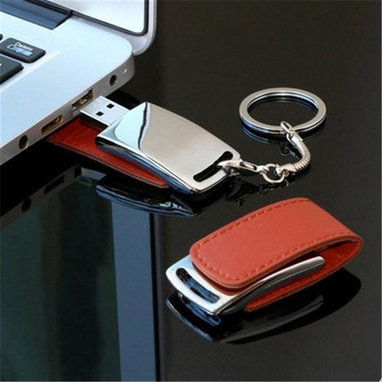 High Speed USB 3.0 Leather usb flash drive + Key chain USB Flash Drives 128GB 64GB 8G 16G 32GB Memory Sticks Pen Drives gift(China (Mainland))