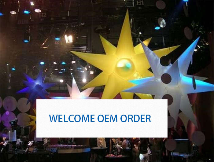 Free Shipping by DHL Advertising Inflatables stars Stage&Bar&Party decoration(China (Mainland))