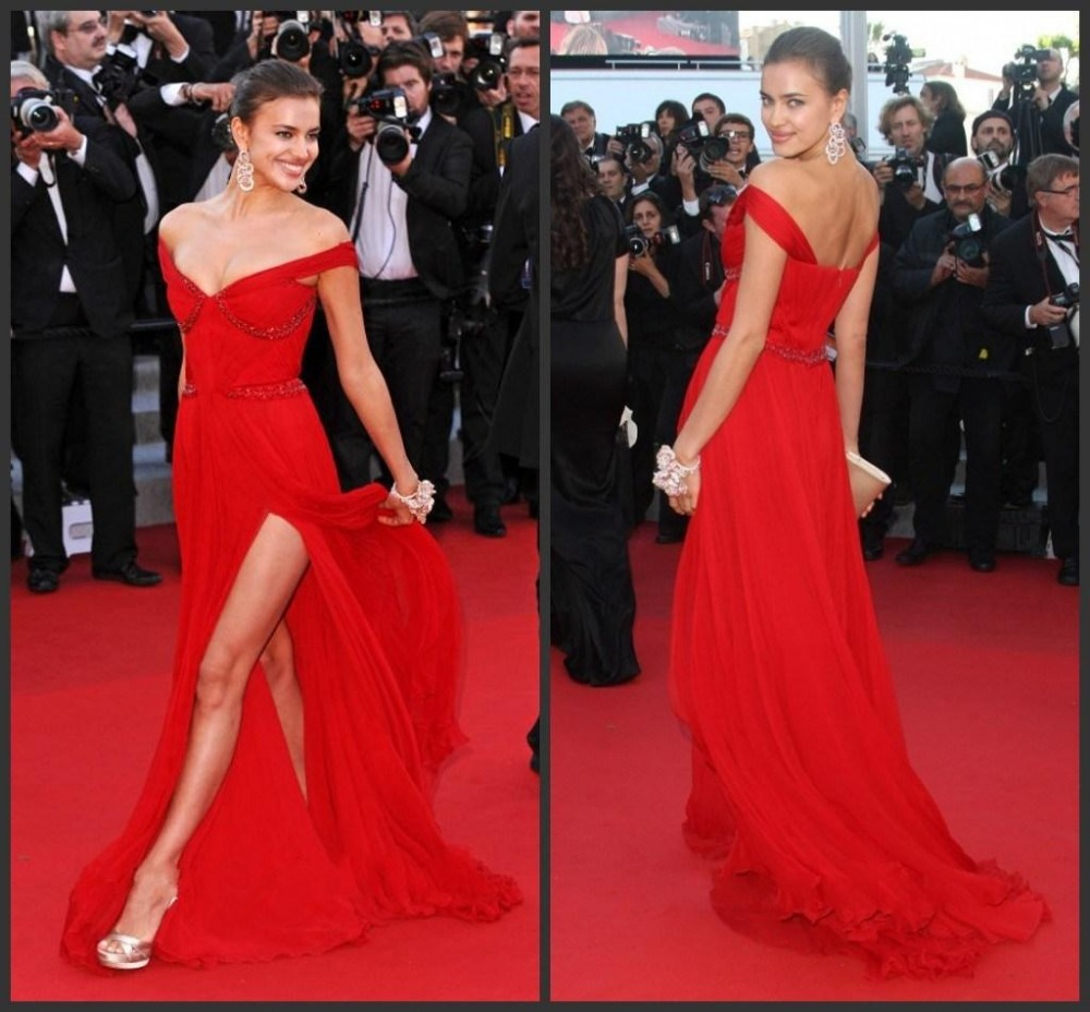 Gorgeous Cap Sleeves Miley Cyrus Red Evening Dress Simple Patterns Cheap For Carpet