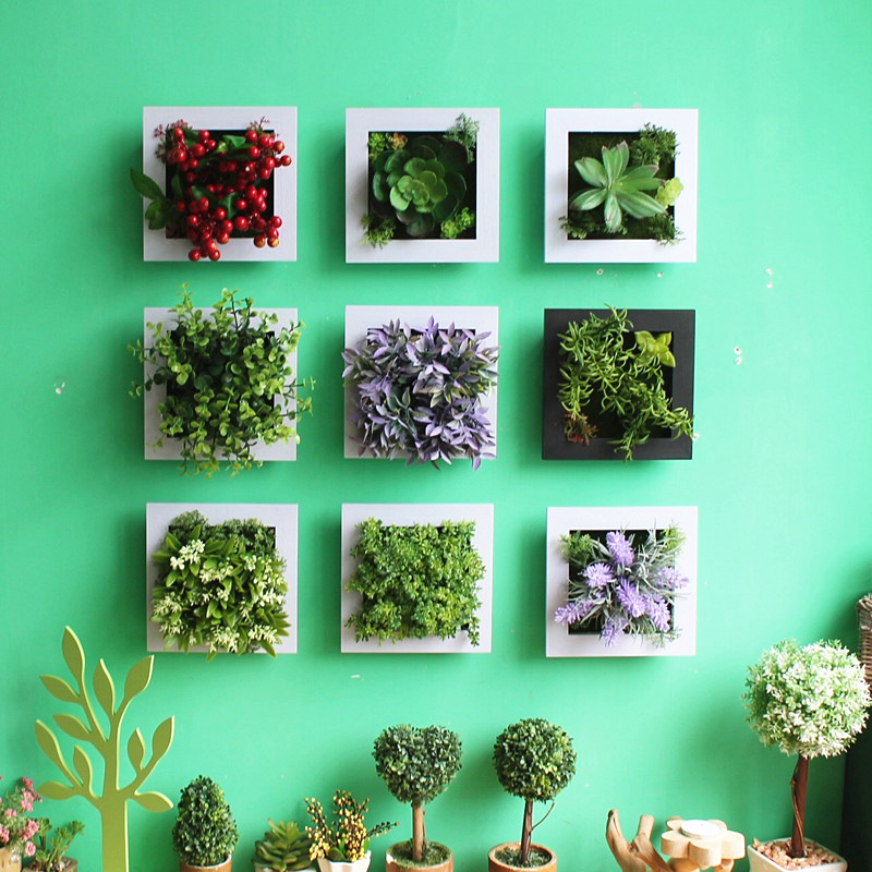 Http Www Aliexpress Com Item 3d Creative Metope Succulent Plants Imitation Wood Photo Frame Wall Decoration Artificial Flowers Home Decor Living 32596692198 Html