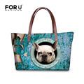 2016 Large Capacity Cute Pug Dog Women Handbags Kawaii French Bulldog Tote Bag Mujer Bolsos Brand