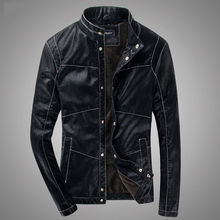 New winter fashion THOOO Brand Men's Short Slim open wire design  motorcycle jackets PU leather Coat men leather jacket