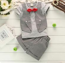 Niños ropa Set nuevo verano niños trajes de bebé chicos de verano de manga corta traje de pantalones 2 pc / juegos niños ropa(China (Mainland))