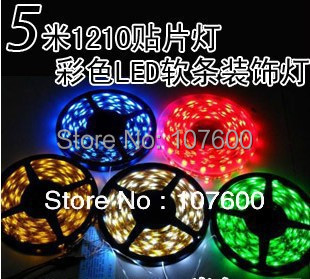 Merry Christmas Advertising,family decoration light 5m 60LED/m waterproof LED Strip 5050 SMD 12V RGB with controller/W/Y/G/R/B(China (Mainland))