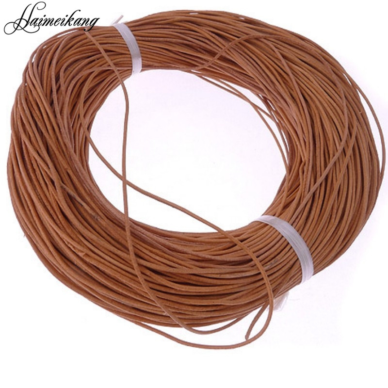 Haimeikang 10M Khaki 1 mm Leather Cord for Bracelet Jewelry Findings High Quality DIY Accessories Supplies for Jewelry Making(China (Mainland))
