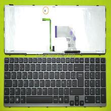 Оригинальный новый FR французский клавиатура ноутбука для SONY SVE15 серой рамке черный ( с подсветкой )