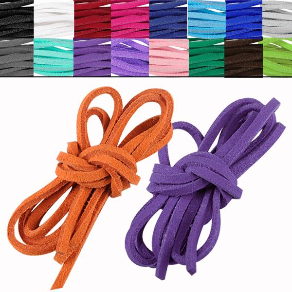 17pcs/lot soft leather suede lace cord rope string bracelet necklace craft gift diy strap ES4631(China (Mainland))
