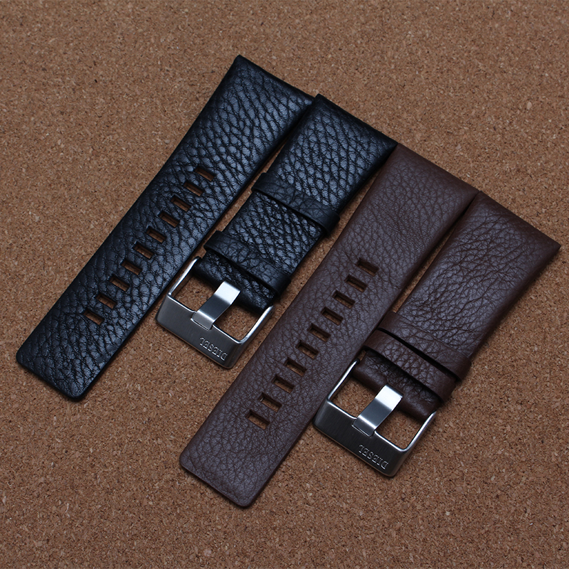 new Promotion Watchbands big width 22mm 24mm 26mm 28mm 30mm black brown straps for men quartz fashion watches soft litchi grain<br><br>Aliexpress