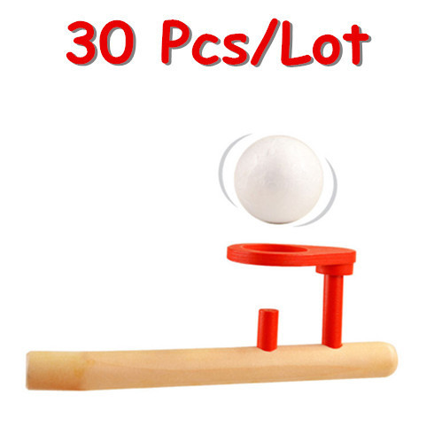 Wholesale 30Pcs/Lot Schylling Floating Ball Game Wooden Baby Toys Traditional Ball Child Educational Toys Outdoor Toy Gift(China (Mainland))