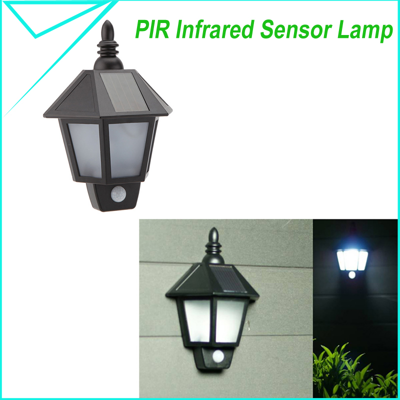 Luxform High Quality Wall Light With Pir Sensor : High quality PIR Infrared Body Motion & Light Sensor Solar Power Panel Outdoor LED Wall Yard ...