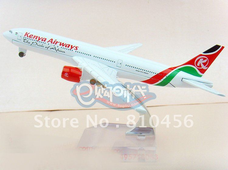 Free Shipping!Kenya Airlines gift B777 16CM 1:400 AIRPLANE MODEL avaition model RC plane model aircraft