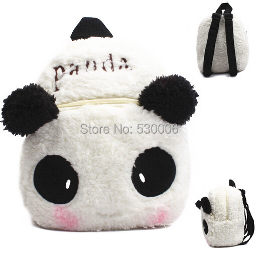 Black-White Cute Cartoon Panda Soft Plush Baby Boys Girls Children Schoolbag Kids Backpack School Bags mochila infantil - Summer Days with Coo store