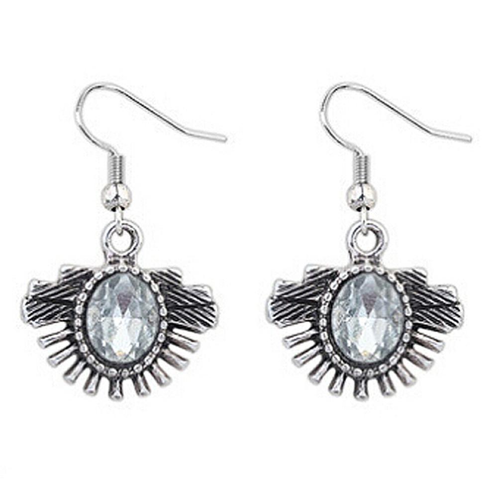 10x( 2016 Ethnic Style Vintage Punk Feathers Shape Fan-shaped Metal Crystal Pendant Necklace Earings Set Jewelry<br><br>Aliexpress