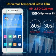 Universal 9H Premium Real Tempered Glass Screen Protector Shatter Proof Protective Film For LG UMI Philips Vodafone Alcatel Case