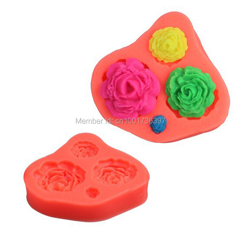 Flower Silicone Mold,Cake Tool,Fondant Cake Decorating ...