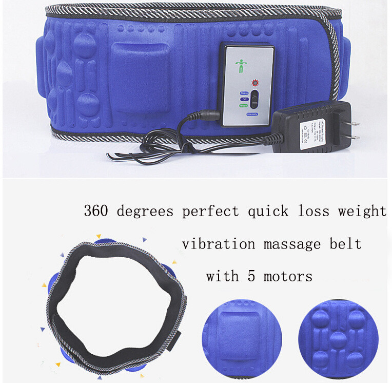 Electric Fitness Vibrating 5 motors massager slimming belt vibration massage fat burning weight losing effective(China (Mainland))