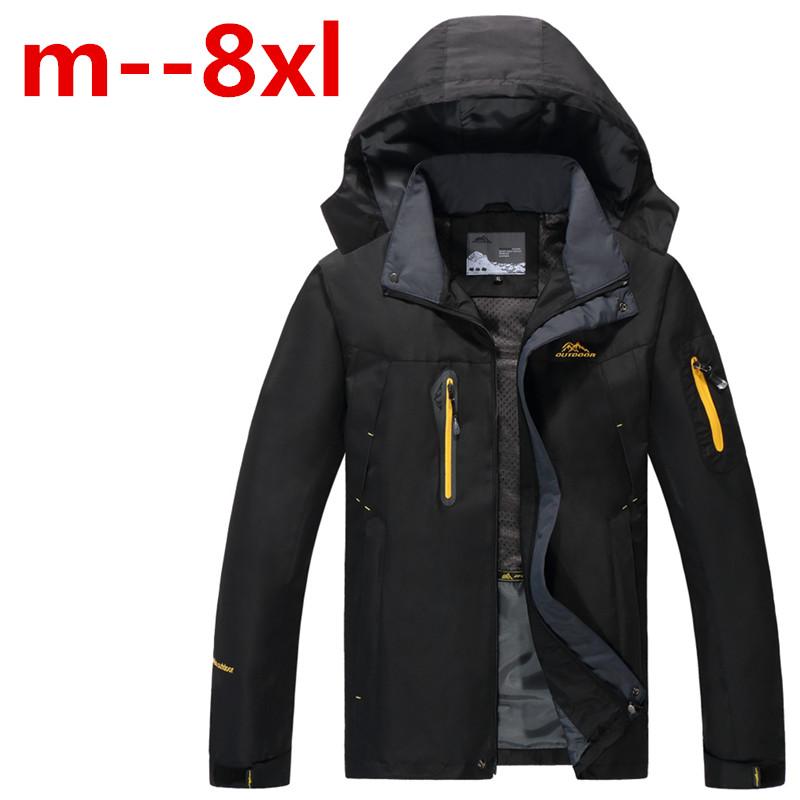 8XL 7XL 6XL 5XL ourdoor Jacket Men Thin Waterproof Windproof Men'S Outdoor Jacket Brand Breathable Softshell Jacket Men(China (Mainland))