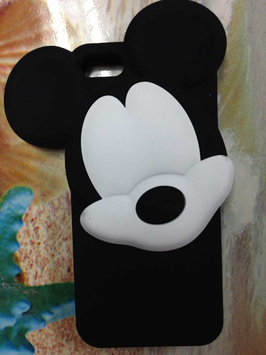 For iphone6 4.7 inch Hot Edition 3D Cartoon Black & White 3D Head Mickey Mouse Case silicon rubber soft for iPhone 6(China (Mainland))