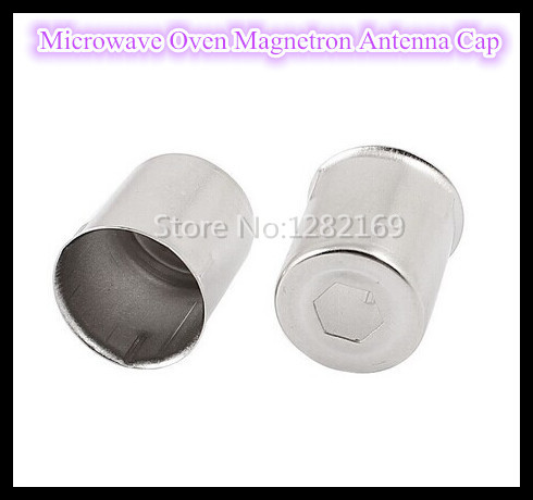 2 pieces lot Microwave Oven Magnetron Antenna Cap 14 5MM Hexagon Hole Steel Cap Accessories