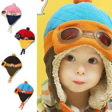 Lowest Price! Toddlers Cool Baby Boy Girl Kids Infant Winter Pilot Aviator Warm Cap Bomber Hat(China (Mainland))