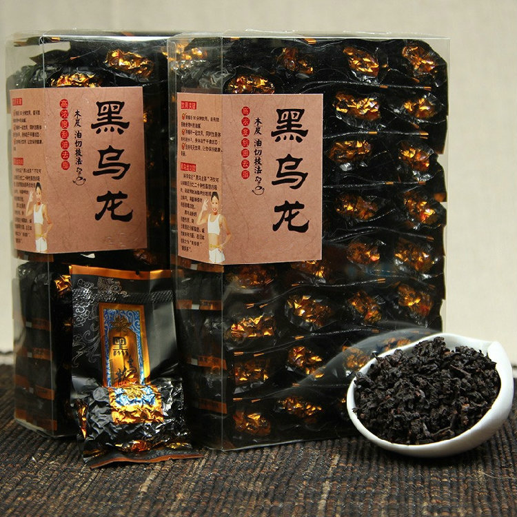 250g Fast Weight Loss Black Oolong Slimming Tea Oil Cut Black Oolong Tea Chinese Stomach Fat