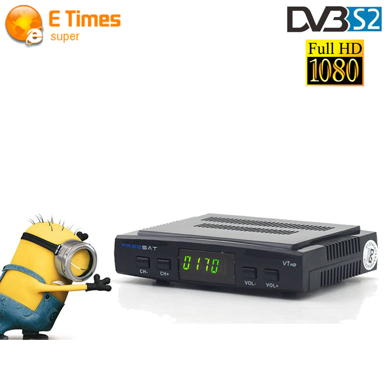 Original Stallite Reciever Freesat V7 HD DVB-S2 Support USB Wifi 3G Dongle Cccam Newcam Full PowerVu Biss Key receptor Satellite(China (Mainland))
