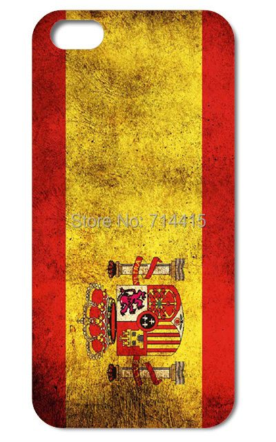 Retro Spain National Flag hard back cover case for iphone 4 4S 4G 5 5S 5G(China (Mainland))