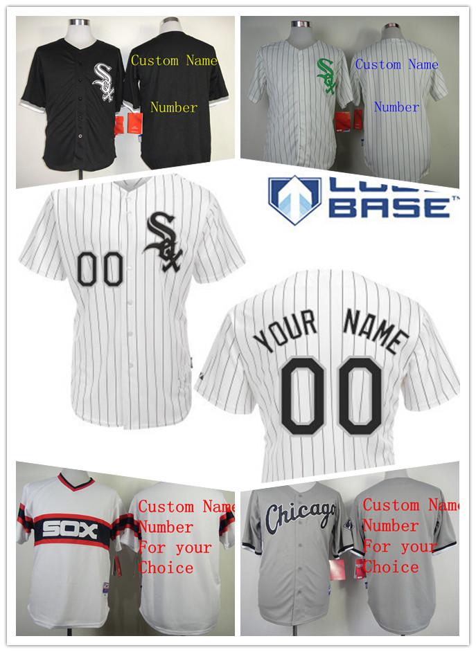 Personalized Chicago White Sox Jersey, Custom Bank White Black Pinstripe Men Women Youth Cheap all stitched jerseys(China (Mainland))