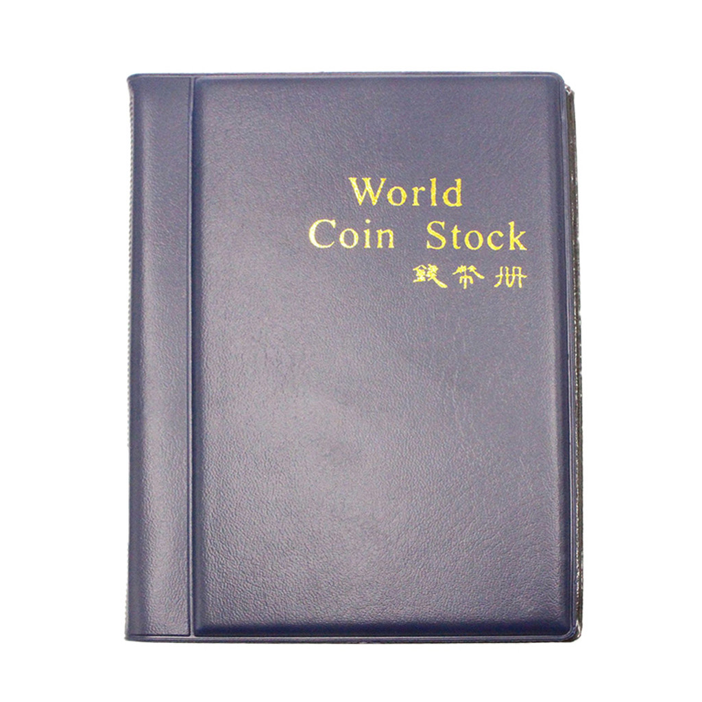 Small Coin Album Books 10 Pages 120 Pockets Coin Collection Holder Book