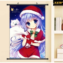 40X60CM Is the Order a Rabbit GochiUsa cameltoe loli lolita cartoon anime cloth wall picture mural scroll canvas painting poster