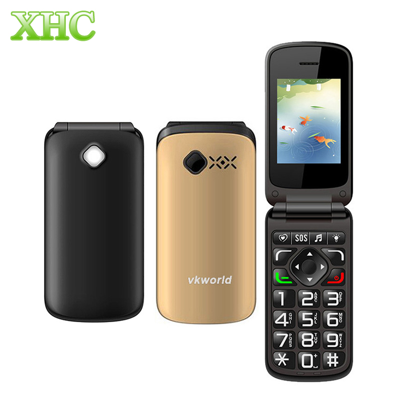 VKworld Z2 2.4''Large Button TFT Flip Elders Mobile Phone Dual SIM Card / 0.3MP Camera / FM/Torch 800mAh Mini Phone(China (Mainland))