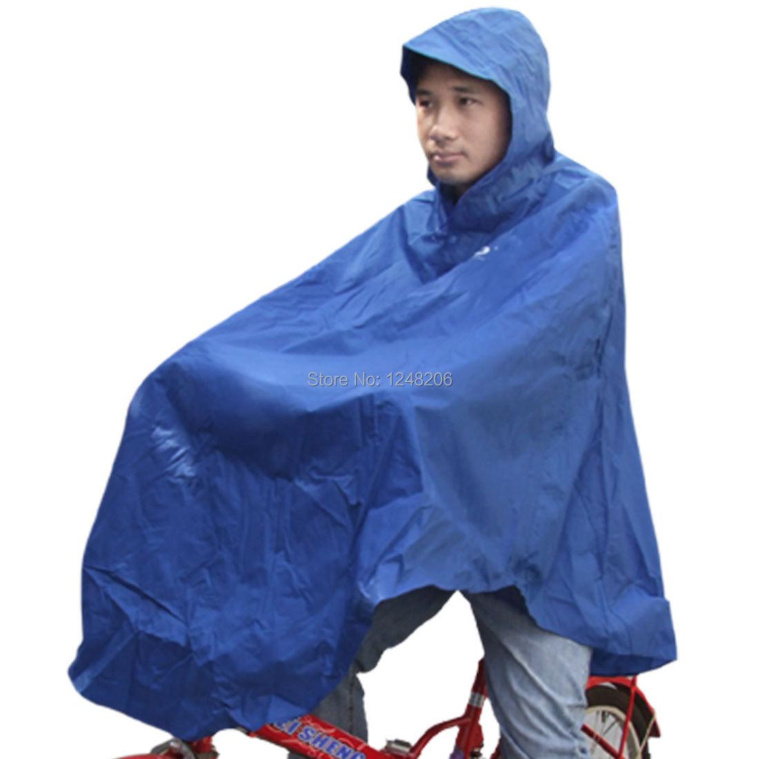 Anti Waving Hooded PVC Raincoat for Bicycle Rider blue(China (Mainland))