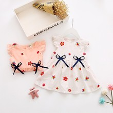 Buy Summer Dresses Kids Baby Girls Clothes Sleeveless Flower Pattern Children Toddlers Baby Mini Dress for $6.00 in AliExpress store