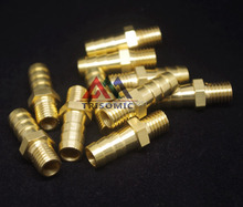 5mm Hose Barb x  M5*0.8  Male Metric Thread Brass Barbed Fitting Coupler Connector Adapter 232psi(China (Mainland))