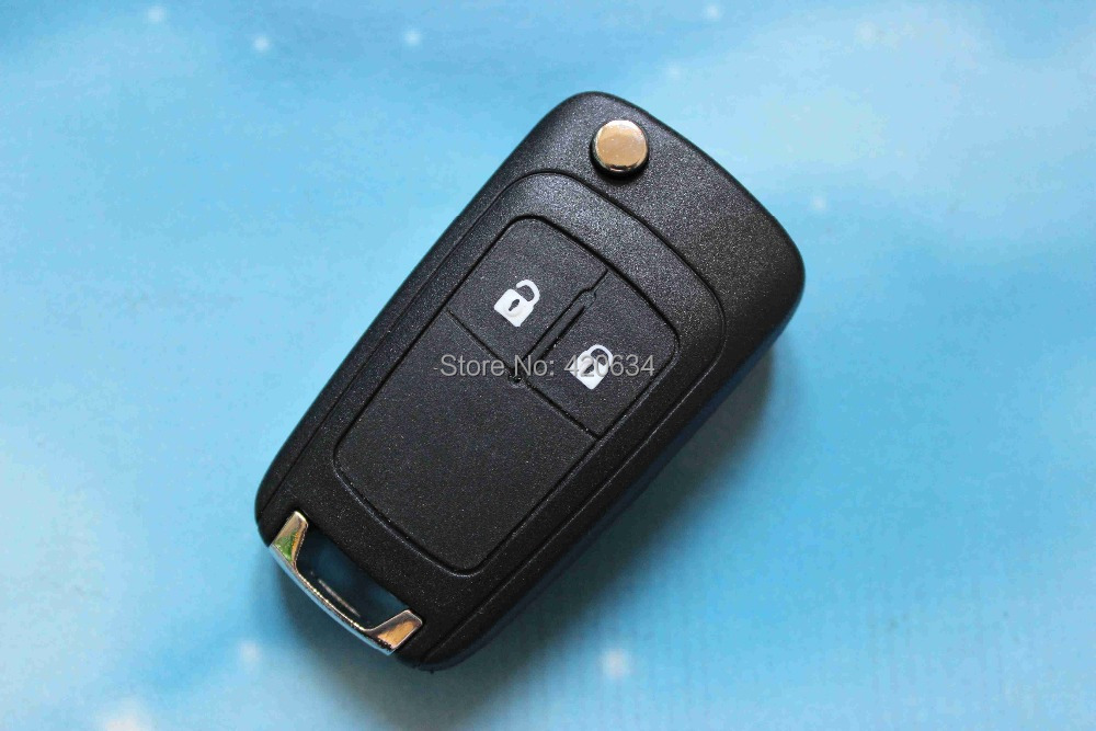 Uncut Blade 2 Buttons Car Flip Folding Remote Key Shell Keys Fob Case Cover Fit For Opel Vauxhall Insignia Astra With Logo(China (Mainland))