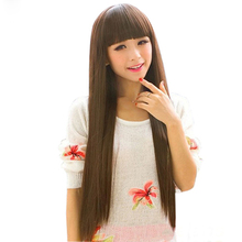 75cm(29.53inch) Women New Sexy Long Straight Full Hair Wigs For Cosplay Costume Party(China (Mainland))