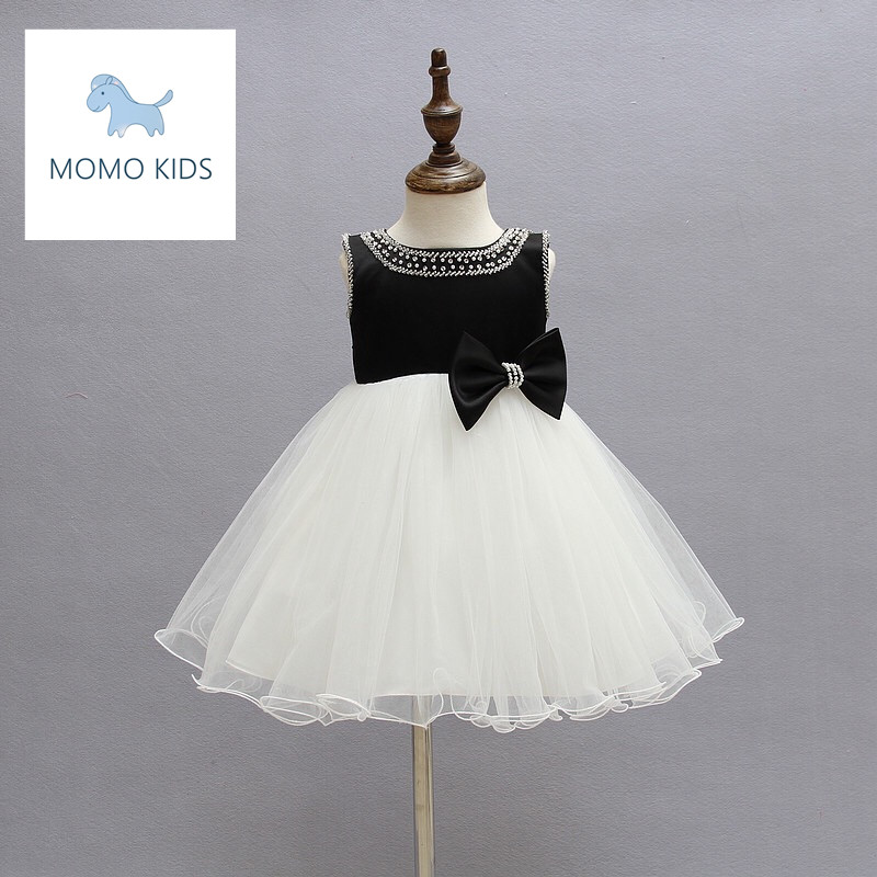 2016 Girls Dresses Children Princess Flower White Girl Dress Kids Wedding Party Christening Gown Baptism Pageant Baby Gril - YIMOVON Store store