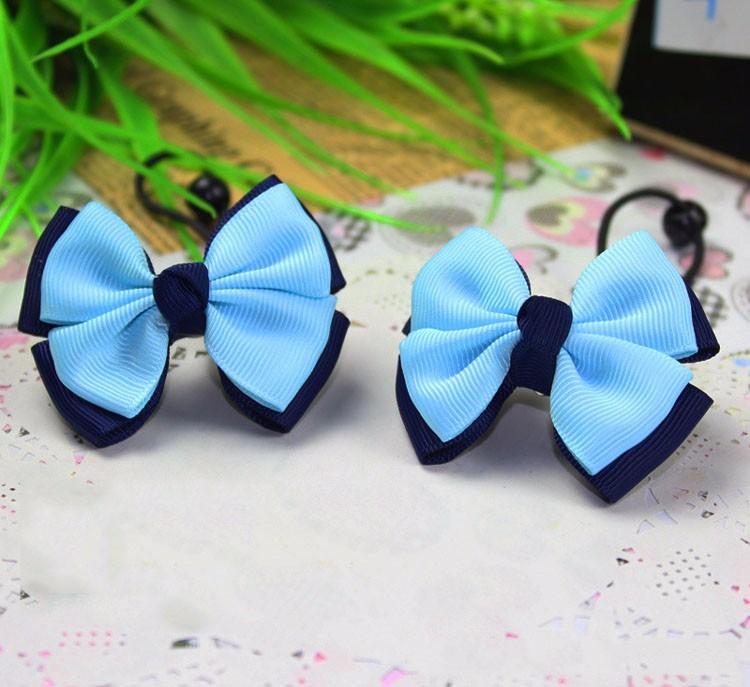 2016 New Cute Children Headdress Girls Tie Hair Ropes Headwear Bowknot Baby Hair Accessories Ponytail Holder Elastic Hair Bands